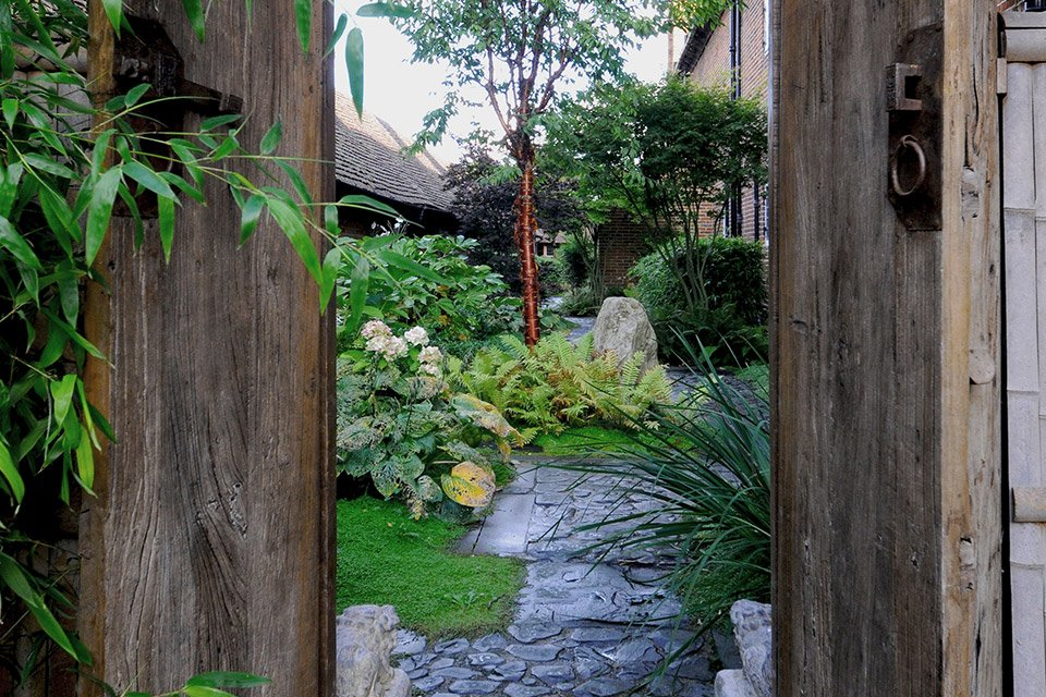 ... Garden Design With Japanese Surrey Country Garden Design With Large Container  Gardening From Graduatelandscapes.co